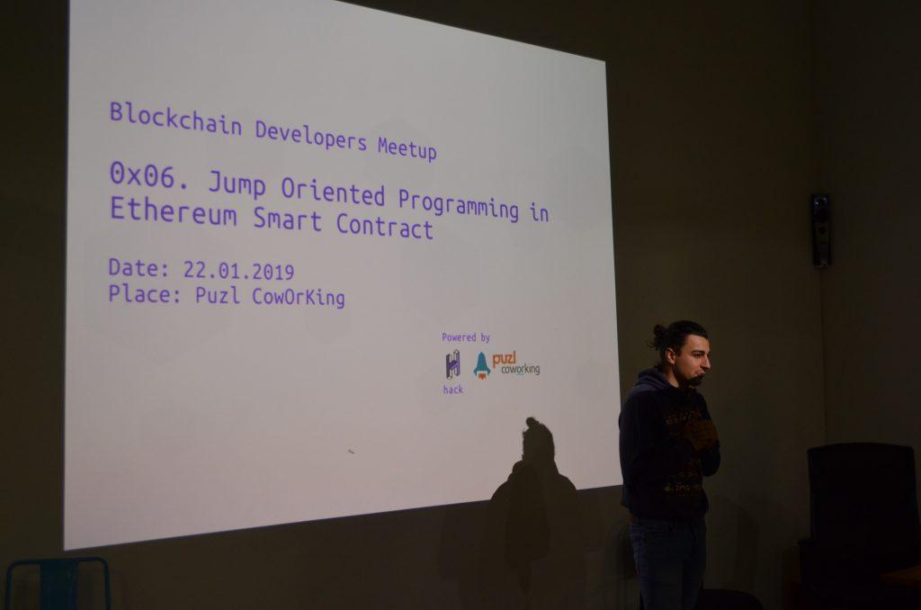Blockchain Developers Meetup 0x06 - Jump Oriented Programming in Ethereum Smart Contract 1