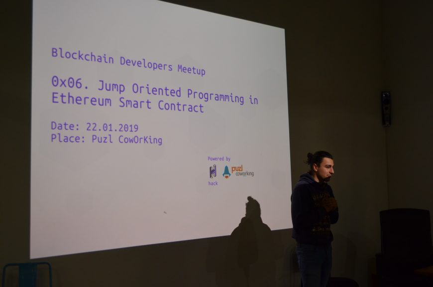 Blockchain Developers Meetup - 0x06 Jump Oriented Programming in Ethereum Smart Contract