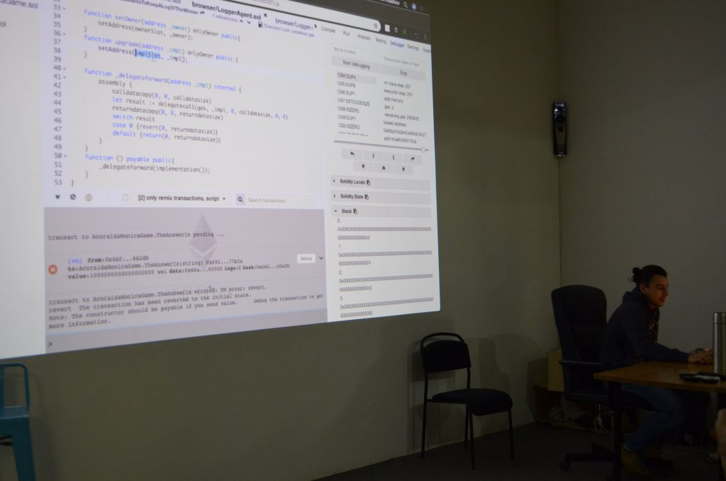Blockchain Developers Meetup 0x06 - Jump Oriented Programming in Ethereum Smart Contract 3