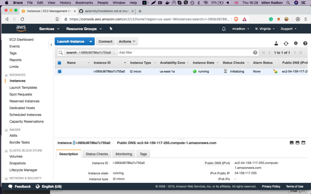 How to run your own Aeternity node on Amazon AWS 13