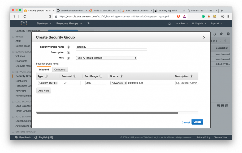 How to run your own Aeternity node on Amazon AWS 27