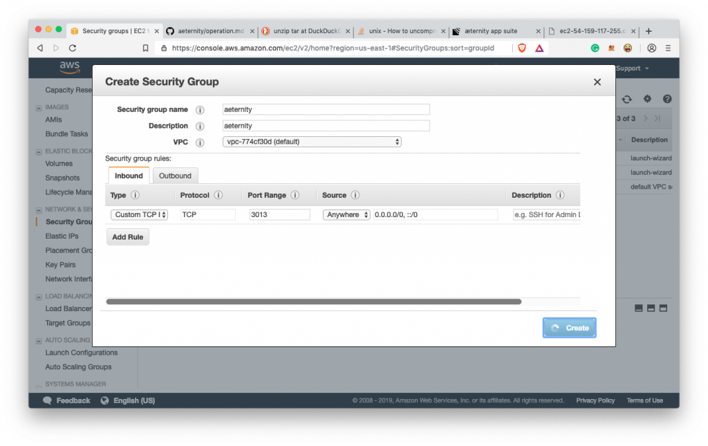 How to run your own Aeternity node on Amazon AWS 28