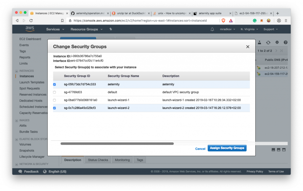 How to run your own Aeternity node on Amazon AWS 30