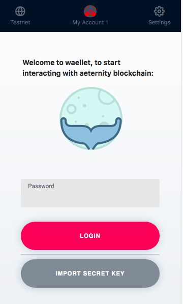 Meet Waellet - the browser extension wallet for the aeternity blockchain network 2