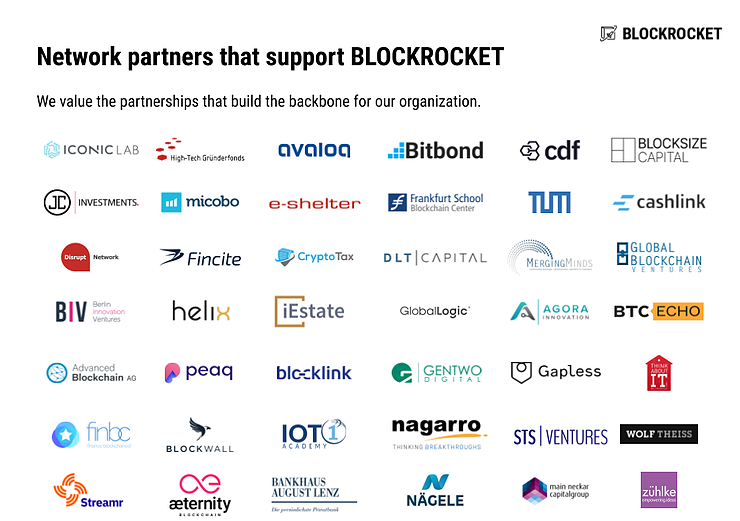 Blockrocket network of partners