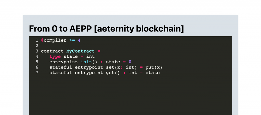 From zero to a fully-fledged aeternity decentralized application in less than 10 minutes 2